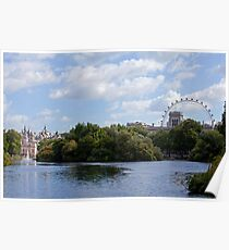 London Eye and Horseguards Poster