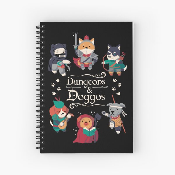 Dungeons and Doggos Spiral Notebook