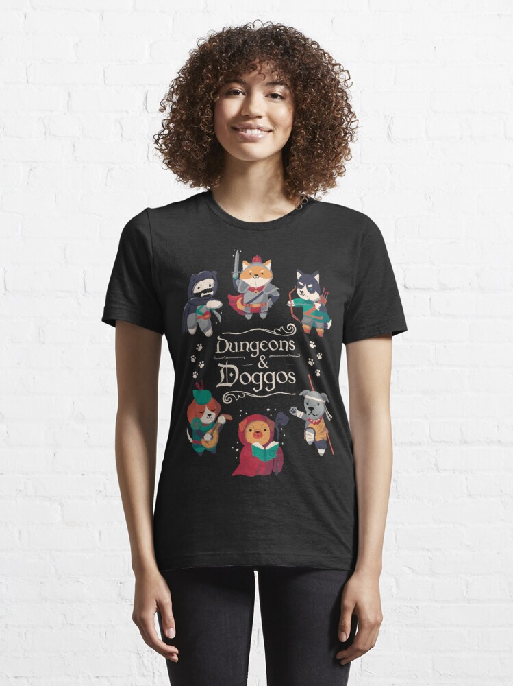 Alternate view of Dungeons and Doggos Essential T-Shirt