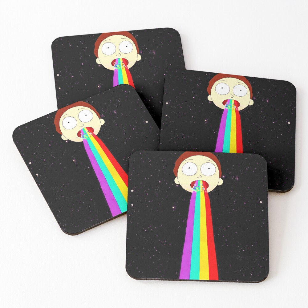 Moonman Morty Coasters (Set of 4)