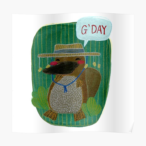 G'day Platypus Poster