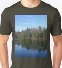 Scenic Glassy Mountain Lake T-Shirt
