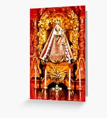Sanctuary Hohenpeissenberg ~ Altar with Madonna  Greeting Card