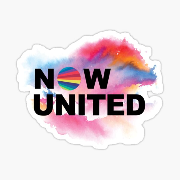 NOW UNITED with a Ink Splash of colors  Sticker