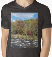 Pretty Rustic Autumn River Rapids T-Shirt