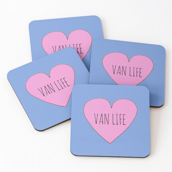 Van Life Love Coasters (Set of 4)