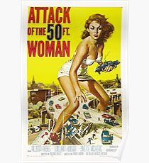 Attack of the 50 Foot Woman! Poster