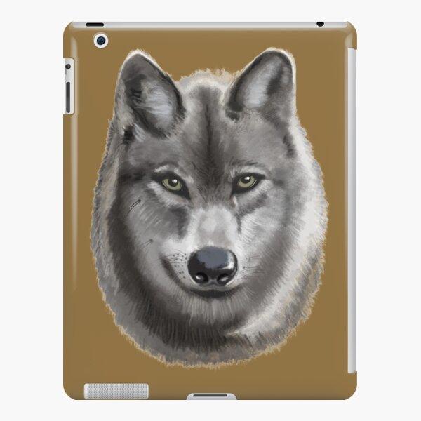 Grey female Wolf iPad Snap Case