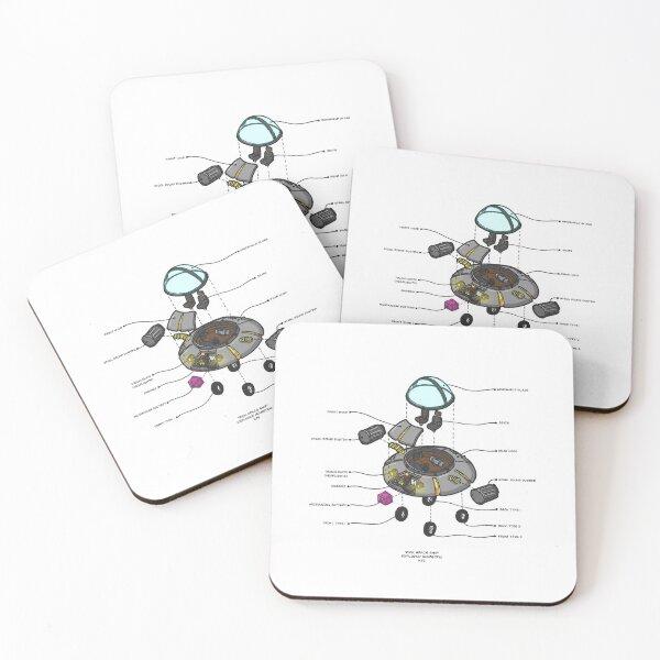 RICK SPACESHIP Coasters (Set of 4)