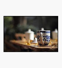 Chinese teacup Photographic Print