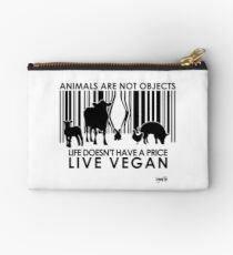 VeganChic ~ Animals Are Not Objects Zipper Pouch