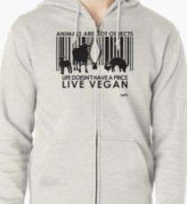 VeganChic ~ Animals Are Not Objects Zipped Hoodie