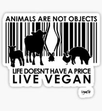 VeganChic ~ Animals Are Not Objects Glossy Sticker