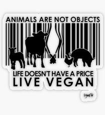 VeganChic ~ Animals Are Not Objects Transparent Sticker