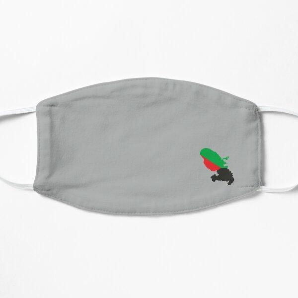 Masque Martinique en rouge vert et noir Masque sans plis