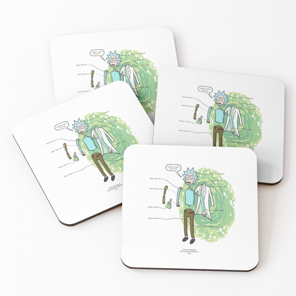 RICK SANCHEZ Coasters (Set of 4)