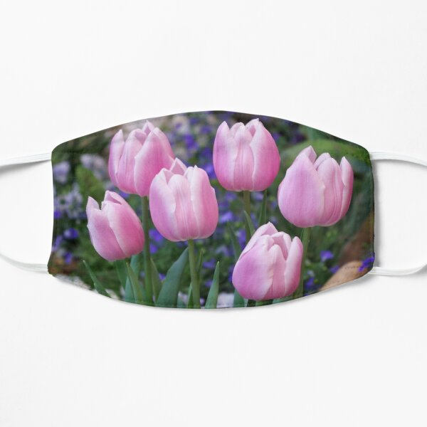 Spring gathering of tulips Mask