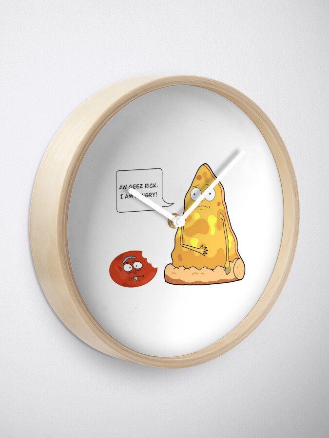 Alternate view of Pizza Morty with salami Rick Clock