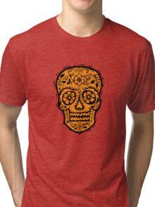 Sugar Skull SF Halloween on blk Tri-blend T-Shirt