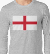 Flag of England (St. George's Cross) Authentic version to scale and color Long Sleeve T-Shirt