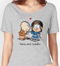 Aang & Katara (Avatar / Calvin & Hobbes) Women's Relaxed Fit T-Shirt