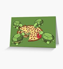 Hungry Hungry Turtles Greeting Card