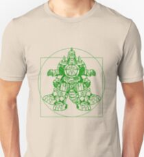Vitruvian Dragon Zord Green Unisex T-Shirt