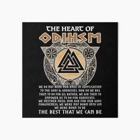 Das Herz des Odinismus Odin Viking Quotes Galeriedruck