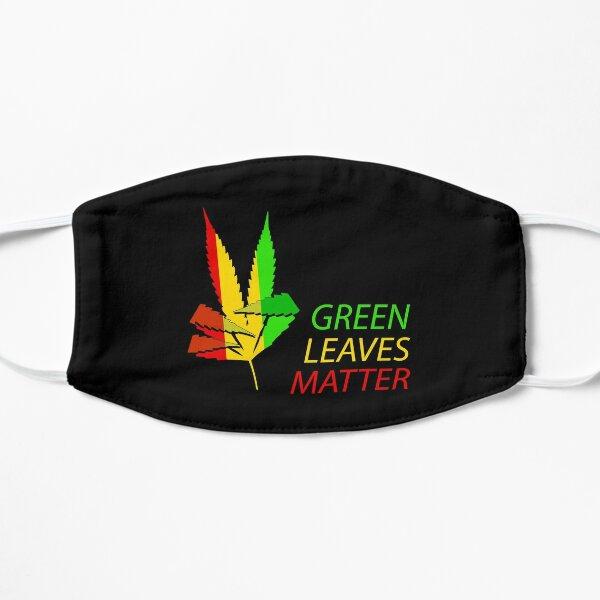 Green Leaves Matter Ragga Flat Mask
