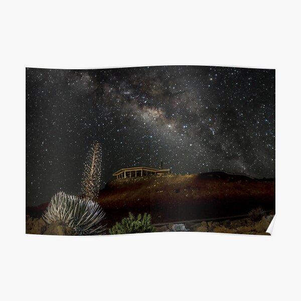 Milky Way over Haleakala Poster