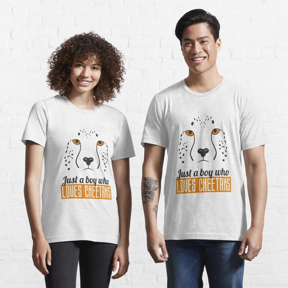 Just A Boy Who Loves Cheetahs - Cheetah Essential T-Shirt