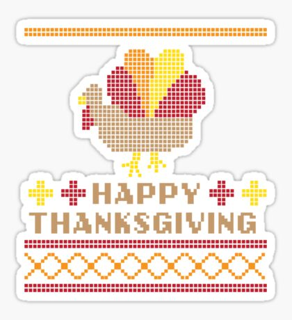 Ugly Thanksgiving Sweater Sticker