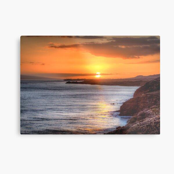Maui Sunset 6/8/12 Metal Print