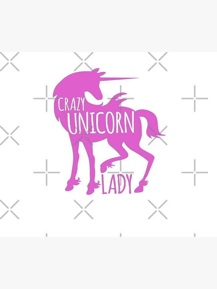 Crazy Unicorn lady in purple by jazzydevil