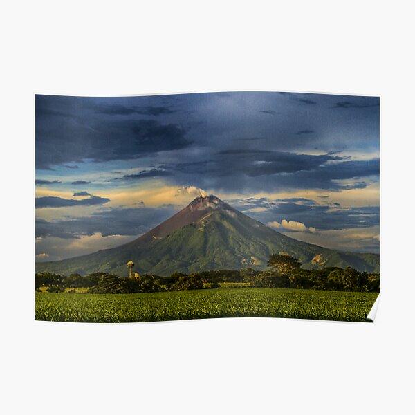 Momotombo Volcano, Nicaragua Poster