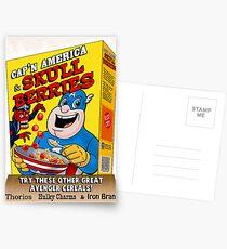 Cap'n America cereal with Skull Berries Postcards