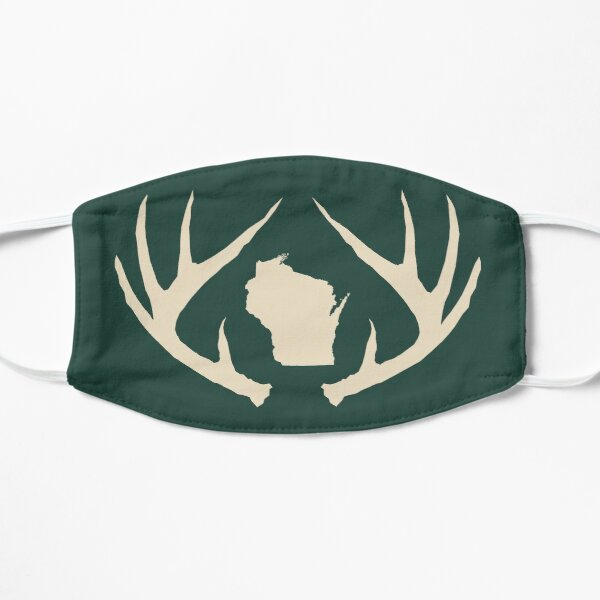 Wisconsin Antlers Green Mask Flat Mask