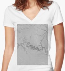 Grand Canyon 2 Women's Fitted V-Neck T-Shirt