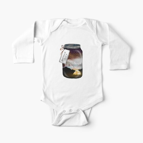 Reach for the Stars Mason Jar Tatra Cottage Long Sleeve Baby One-Piece
