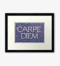 Carpe Diem Light Blue Framed Print