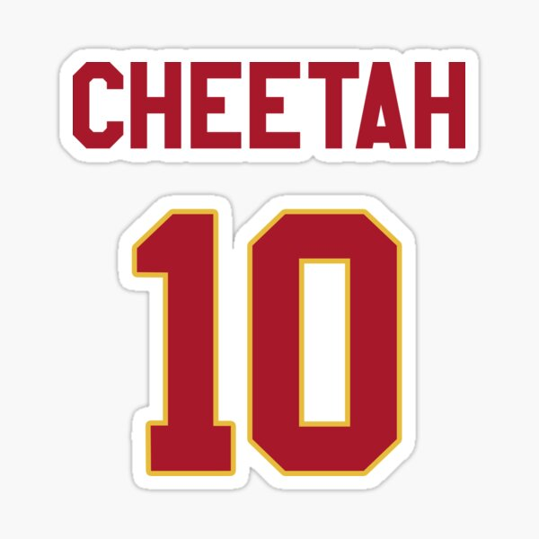 Limited Edition Tyreek Hill Jersey Style Shirt, Cheetah 10, Hill 10, Kansas City Chiefs Shirt, Mug, Hoodie & Wall Tapestry! Sticker