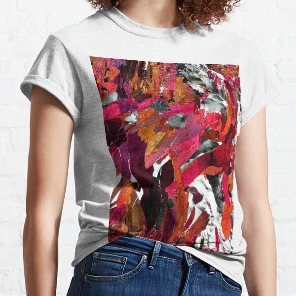 Piemontite from St Marcel, Italy rock thin section - geology gift Classic T-Shirt
