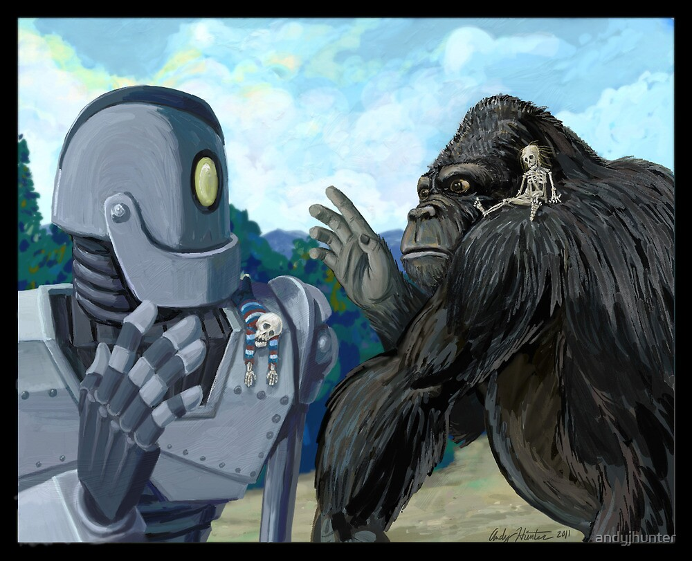 Iron Giant and King Kong are terrible pet owners by andyjhunter