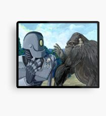 Iron Giant and King Kong are terrible pet owners Metal Print
