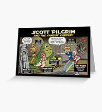 Scott Pilgrim and the Star Wars fantasy Greeting Card