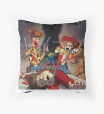 Toy Story - Cowboys and Aliens Throw Pillow