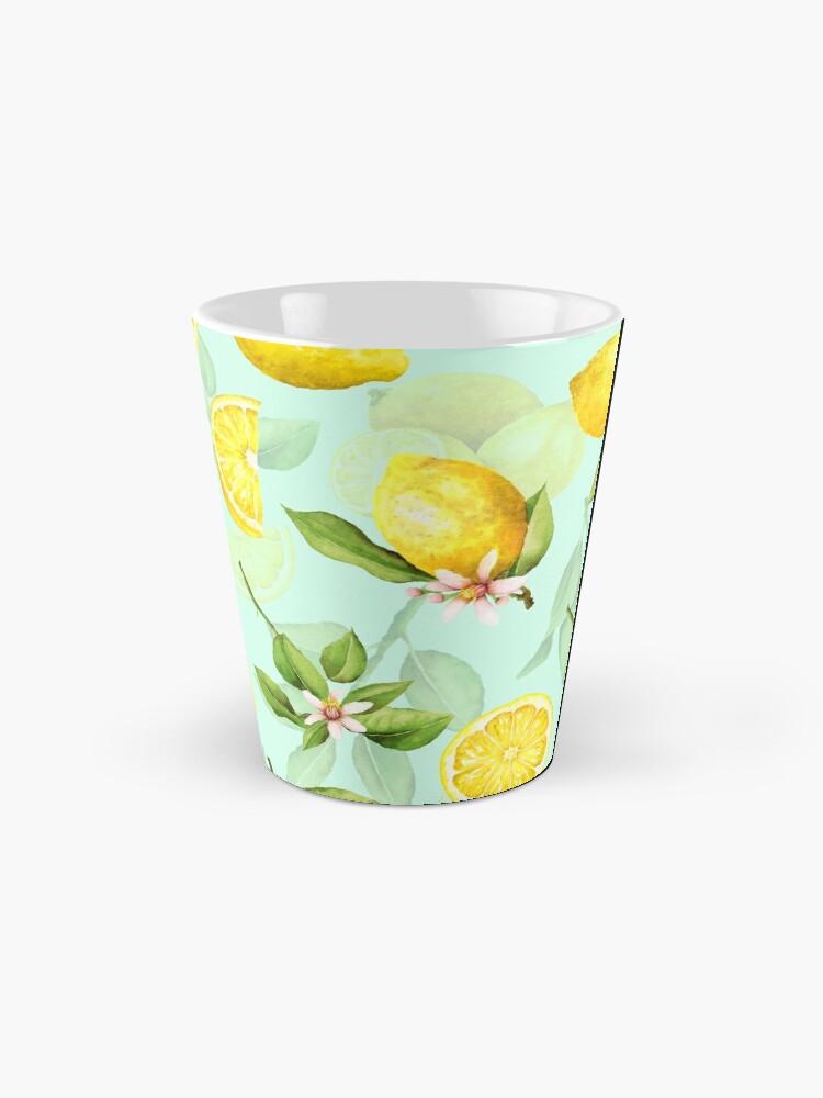 Alternate view of Summer Lemons turqouise Mug