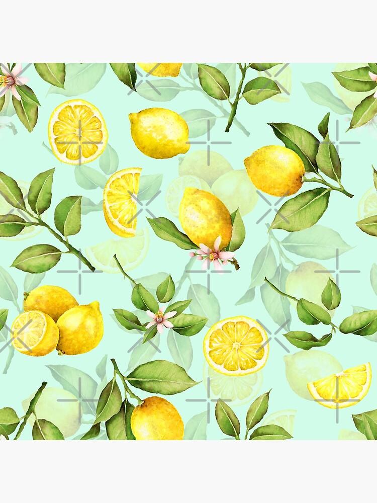 Summer Lemons turqouise by UtArt