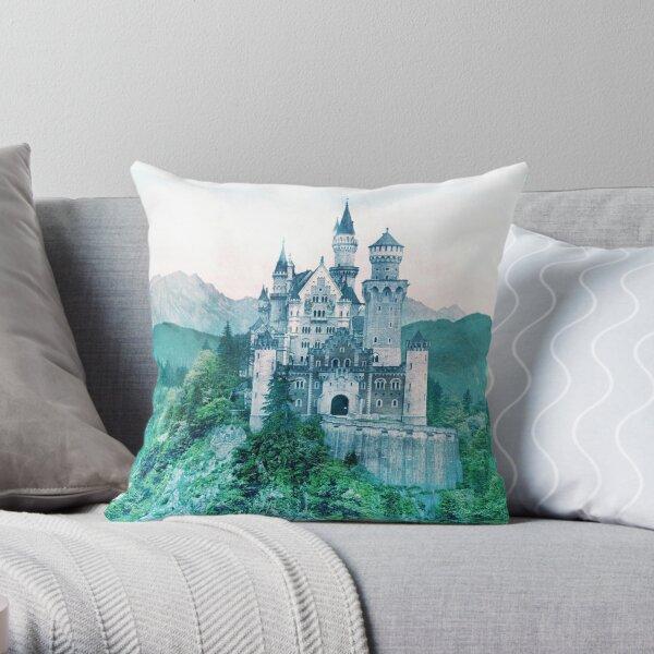 Hilltop Castle Throw Pillow