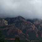 Clouds Descending into Sedona  by CAPhotography